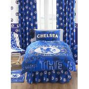 Chelsea chelsea theme bedroom chelsea fc bedding at kids for Crest home designs curtains