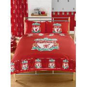Liverpool Fc Double Duvet Cover and Pillowcase Border Design Bedding