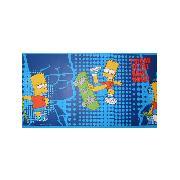 Simpsons kids simpsons bedroom the simpsons bart homer for Simpsons wallpaper for bedroom
