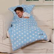 Polka Dot Toddler Snuggle Sac