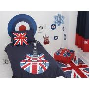 Union Jack Guitar Print Bedlinen Set